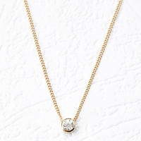 Bezel Set Charm Necklace