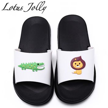 Platform Sandals Cute Lion Crocodile Flip Flops