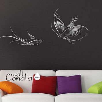 Paradise Birds Wall Decal Paradise Birds Wall by WallConsilia
