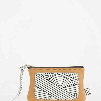 ENA COLOURS Mini Leather Zip Wallet-