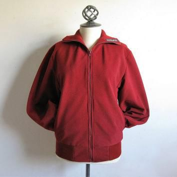 Vintage 70s ADIDAS Jacket Authentic RARE Solid Three Leaf 1970s Sport Zip Jacket Unise