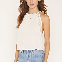 Lace-Paneled Halter | Forever 21 - 2000168963