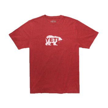 Salmon Fly T-Shirt in Brick Red by YETI
