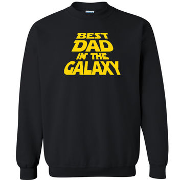 Zexpa Apparel™ Best Dad Ever In The Galaxy Unisex Crewneck Father's Day Gift Sweatshirt