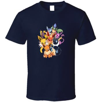 Pokemon eevee evolution T Shirt