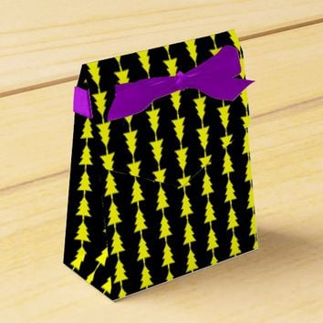 Funky Bright Yellow Fir Christmas Tree Favor Box