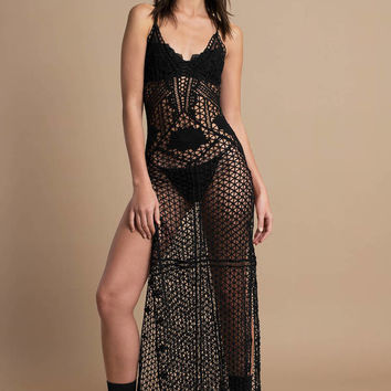 Carrie Crochet Maxi Dress