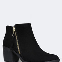 SIDE ZIPPER WESTERN BOOTIE