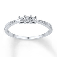Diamond Promise Ring 1/20 ct tw Round-cut 10K White Gold