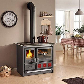 """Wood Burning Cook Stove La Nordica """"Rosa XXL"""", with Baking Oven"""