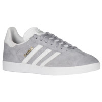 adidas Originals Gazelle - Women's - Casual Training Sneakers - adidas Originals - Women's - Casual - Shoes - Mid Grey/White/Gold Metallic | Lady Foot Locker