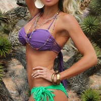 Cocoa Beach Fringe Bandeau Top