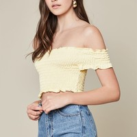 LA Hearts Smocked Crop Top at PacSun.com