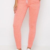 Neon Orange Space Dye Jogger | Solid Joggers | rue21
