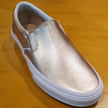 VANS Slip-On Fashion Casual Shoes Sneaker - Rose Gold