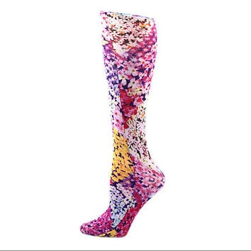 "Compression Socks ""Wall of Flowers"" (Closed Toe)"