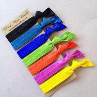 The Hilary Hair Tie-Ponytail Holder Collection - 7 Elastic Hair Ties by Elastic Hair Bandz on Etsy