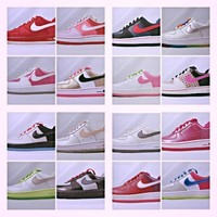 New Kid's Girl's Air Force 1 Sneakers- Uptowns- 314193 Pink- White-Red- Purple