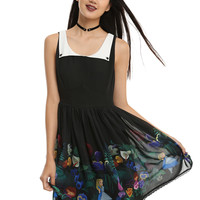 Disney Alice In Wonderland Collar Floral Dress
