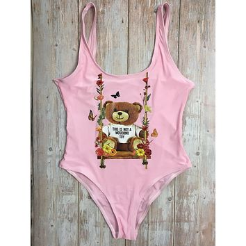 MOSCHINO One Piece Swimwear Bikini Set MOS07 Pink
