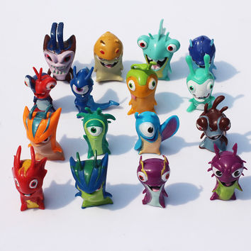 16Pcs/Set Cartoon Slugterra 2 PVC Figure Toys Model Dolls Christmas Gifts For Kids 4cm Approx