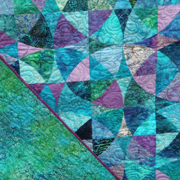 Shop Handmade Green And Purple Quilts On Wanelo