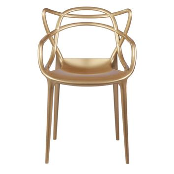 Fine Mod Imports Brand Name Dining Chair, Gold