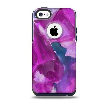 The Grunge Watercolor Pink Strokes Skin for the iPhone 5c OtterBox Commuter Case