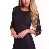Limelight Lace Bodycon Dress in Black - Popcherry