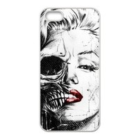 Zombie Marilyn Monroe Custom Case/Cover FOR Apple iPhone 5, Border Rubber Silicone Case Black/White