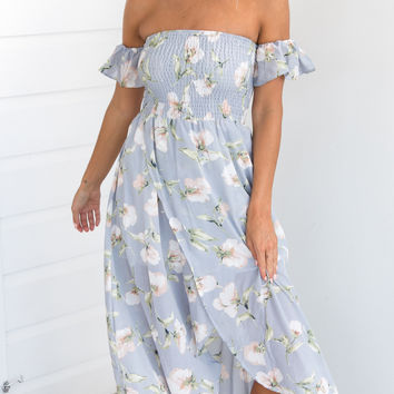 FLORAL HEIGHTS DRESS (BLUE)