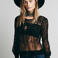 Free People Womens Midnight Wind Top