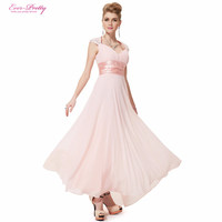 2016 New Arrival Hot Selling Sexcy V Neck Sequins Chiffon Ruffles Empire Line Evening Dress