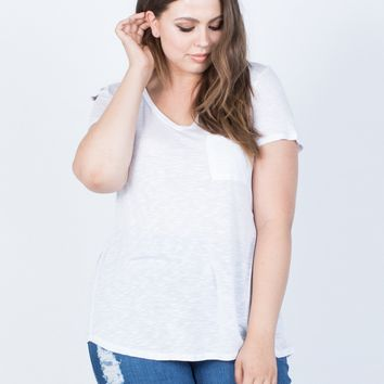 Plus Size Solo Pocket Tee