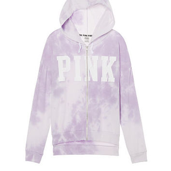 Slouchy Full-Zip Hoodie - PINK - Victoria's Secret