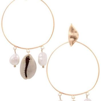 Shell and Pearl Hoops
