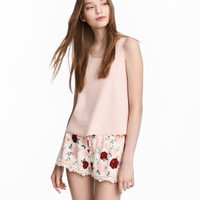 H&M Shorts with Lace Details $29.99