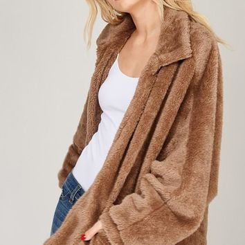 shaggy fur jacket