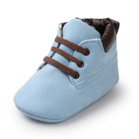 Infant Newborn Baby Kids Boys Classic Handsome First Walkers Shoes Babe Infant Toddler Soft Soled Boots 15 Colors
