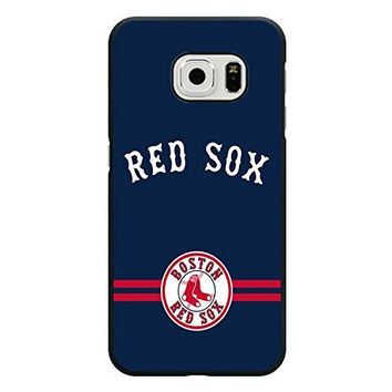 Michael Kruse(TM) Samsung Galaxy S6 Edge Case Girly MLB Boston Red Sox Baseball Team Logo Sports Design Hard Custom New Protective Rugged Protection Accessories Case Cover for Men