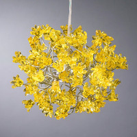 Hanging lamp Yellow flowers by Flowersinlight on Etsy
