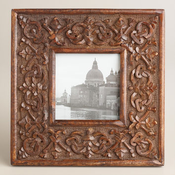 Espresso Square Medallion Rhian Frame - World Market
