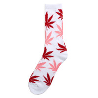 Plantlife Crew Socks White / Pink / Red