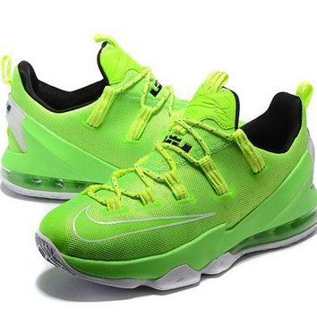 nike shoes men's casual Nike Lebron 13 Low Poison Green Voltage Green Brand sneaker
