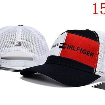 PEAPON ' TOMMY HILFIGER '' embroidery Strap Cap Adjustable Golf Snapback Baseball Hat