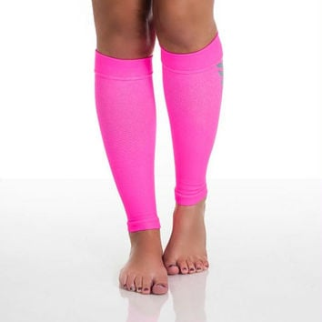 Remedy Calf Compression Running Sleeve Socks - Medium-Pink