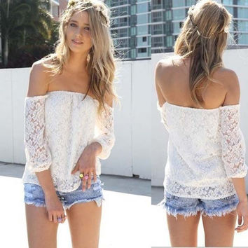 Women Lace Sexy Blouse