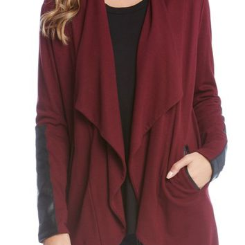 Karen Kane Faux Leather Detail Jacket | Nordstrom