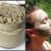Clay Mask, Green, Marshmallow, Vegan, Skin Care, Natural, Cosmetics, Handmade, Mud, Homemade, Lavender, Flower Water, Jojoba Oil