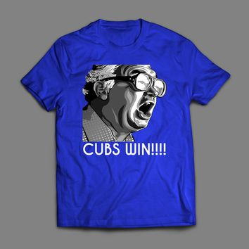 HARRY CAREY CUBS WIN VINTAGE T-SHIRT